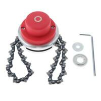 65Mn Brush Cutter Trimmer Head Coil Chain Kit for Lawn Mower Red