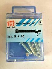 8 Bulloni Filettati Testa Esagonale Con Dado In Ferro Zincato 5x20 mm