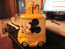 Mickey Mouse Driving the Car, Cookie Jar - Yellow Taxi - Walt Disney Productions