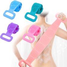 Silicone Bath Towel Back Brush Scrubber Dual Side Scrub Body Wash  Exfoliating