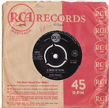 "ELVIS PRESLEY - A MESS OF BLUES Ultrarare 1960 Aussie 7"" Single Release!"