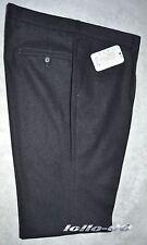Pantalone uomo classico taglia 56 flanella misto lana grigio scuro MADE IN ITALY