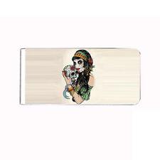 Metal Money Clip Cash Bills Credit Card Metal Holder Clip Skull Design-001