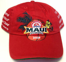 NCAA 2010 Maui Invitational Tournament EA Sports Adidas Buckleback Cap Hat Red