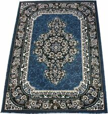 Floral European Thick Woven 8x11 Area Rug Lt. Blue Actual Size 7'7 x 10'