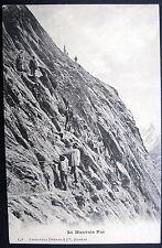 FRANCE ~ 1900's CHAMONIX ?  ~ Le Mauvais Pas ~ CLIMBING FRENCH ALPS ~ ROPES