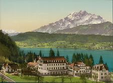a. Luzern. Polytechnic Chalet Seeburg.  PZ vintage photochromie, photochrom ph