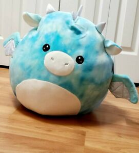 """16"""" Keith the Blue Tie Dye Dragon Squishmallow! (Canadian Version)"""