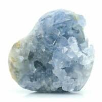 Natural Blue Celestite Crystal Quartz Cluster Geode Specimen Healing Decor Gift