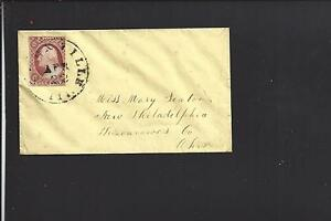 KNOXVILLE,ILLINOIS LADIES COVER WITH #11 S.O.N. CANCEL. KANE CO 1844/OP.