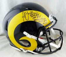 Marshall Faulk Signed LA Rams F/S Color Rush Speed Authentic Helmet-Beckett Auth