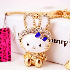 Charm Betsey Johnson Jewelry Pendants Rabbit Rhinestone Chain Women Necklace hot