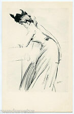 ARTIST SIGNED. PAUL CéSAR HELLEU.  FEMME. WOMAN. ESQUISSE.