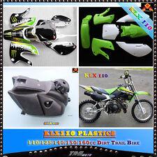 KAWASAKI KLX110 KX65 PLASTICS + GRAPHICS + FUEL TANK SUZUKI DRZ110 RM65 PIT BIKE