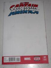 CAPTAIN AMERICA ALL NEW #1 MARVEL COMICS BLANK VARIANT