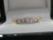 Diamond Five Stone Ring, Diamond Eternity Ring,18ct Gold/platinum, Safeguard
