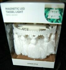 NEW LOCKER STYLE MAGNETIC CHANDELIER LED LIGHT LOCKER - WHITE TASSEL