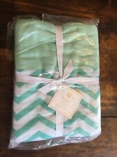 Pottery Barn Teen Essential Throw 45x60 NWT Teal White