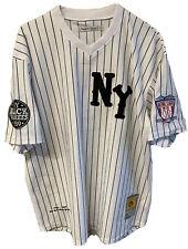 NY Black Yankees Negro League Baseball Jersey Men 3XL XXXL Headgear Classics #2