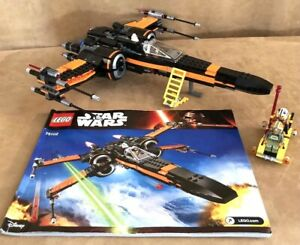 Lego Star Wars Poe's X-Wing 75102 100% Complete ALL Minifigures, Manual ORIGINAL