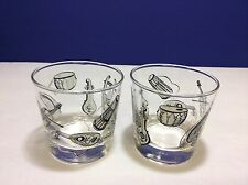 Musical Instrument Glasses Set Of 2