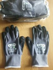 Pack of 10 Pairs Skytec Aria Nitrile Foam Palm Coated Gloves Size 8 Medium