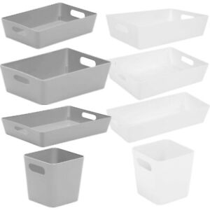 Plastic Studio Basket Home Kitchen Bathroom Office Wham Storage Boxes
