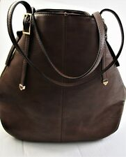 Bucket Bag Handbag Purse Brown Faux Leather Cracker Barrel Old Country Store