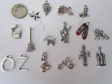 OZ TINMAN RUBY SLIPPERS SCARECROW LION BALLOON DOG RAINBOW WITCH WAND CHARMS 16
