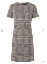 NIEUW! DOROTHY PERKIS Grijs geruite jurk met riem maat 44