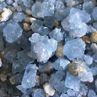 11lb Natural blue celestite mineral Quartz Crystal rough Stone Gravel Healing