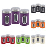 3pc Nea Storage Canister Set Tin Jar Tea Coffee Sugar Container Stainless Steel