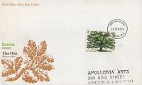 GB 1973 BRITISH TREES OAK TREE FIRST DAY COVER FDC - LONDON POSTMARK