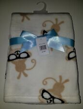 NEW Cutie Pie Brown Monkey Glasses Fleece Blanket Lovey Sunglasses Baby Gift Boy
