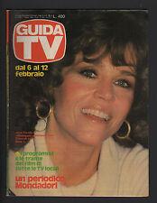 GUIDA TV MONDADORI 5/1983 JANE FONDA STAR TREK HARRY O VEGAS AUDREY LANDERS