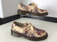 Dr Martens DM Docs Lester Flores Zapatos en muy buena condición talla 36 3 Reino Unido Crema De Lona