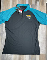 New Jacksonville Jaguars Nike Golf Dri-Fit Polo Shirt Men's SIZE LARGE NWT