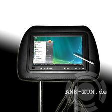 """SDC ks7ts 17,8cm 7"""" apoyacabezas monitor con pantalla táctil VGA para car PC negro"""