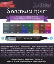 Spectrum Noir Blendable Alcohol Based 24 Ink Pens Darks