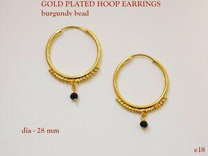 Bali Hoop Earrings 17mm Sterling Silver