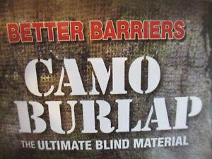 Camo Burlap Heavy Duty Turkey, Tree, Waterfowl Blinds 12 ft-long × 4 1/2-ft high