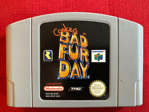 Conker's Bad Fur Day (Nintendo 64, 2001) Cartridge and booklet Only