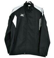 Mizuno Women's XL Long Sleeve Full Zip Up Athletic Wear Running Jacket Black