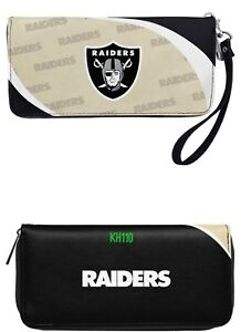 Oakland Raiders NFL Curve Zip Organizer Ladies Wallet