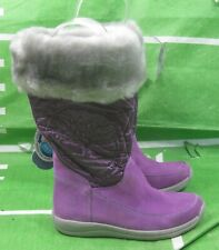 Girls Timberland Waterproof Suede Boots Toddler purple Faux Fur Size 10 C