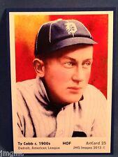 Ty Cobb, Detroit, ArtCard #25 - Baseball card of HOF player c.1900's