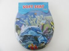 1X New Dolphin Soft Toilet Seat & Cover 42cm long