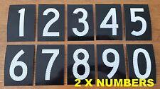 2x Letterbox Numbers - House & Wheelie Bin Numbers - 100mm - Australian Made.