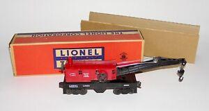 High Grade Lionel No. 6560-25 Postwar Bucyrus Erie Crane Car OB (DAKOTApaul)
