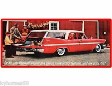 1959 Plymouth Suburban Wagon  Auto Car  Refrigerator / Tool Box  Magnet